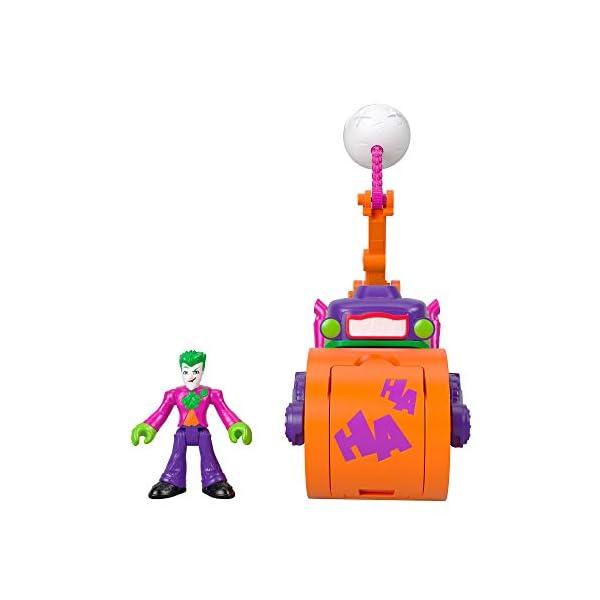 Imaginext DC Super Friends El Joker Vehículo Apisonador, Figuras de Acción de Héroes y Villanos (Mattel GKJ23) 2
