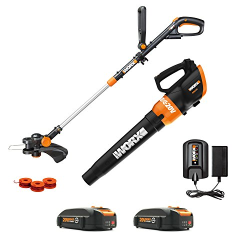 Why Choose Worx WG954.1 20V Revolution Grass Trimmer/Edger and Turbine Blower Combo Kit with two 20V...