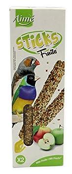 Aime Baguettes aux Fruits pour Oiseaux Exotiques/Friandises pour Oiseaux/2 Baguettes Croustillantes