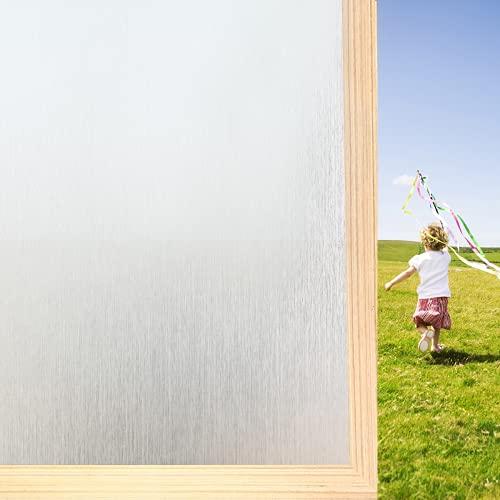 Pellicola per vetri per vetri Senza Colla Adesivo per vetri Smerigliato per Ufficio Domestico Carta per finestre statica Anti-UV Copertura Decorativa per finestre per Bagno Bianco Opaco 44,5 * 200 cm