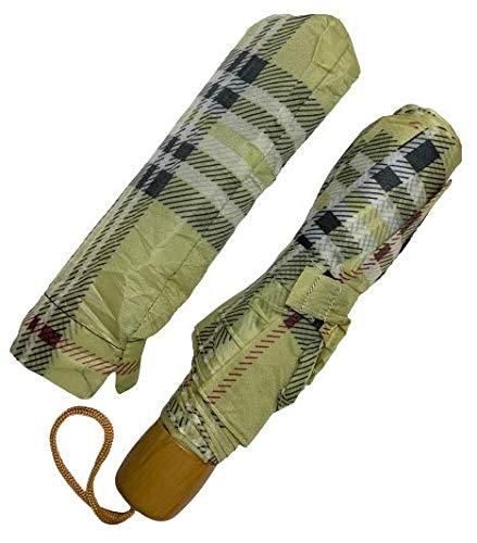 Activave 19.5' Travel Umbrella Windproof Durable Umbrella For Men and Women (Light Green)