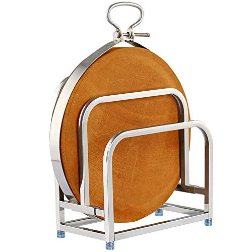Dish Drainer Rack 2 Layer Stainless Steel Large Round Thick Plate Chopping Board Shelf Floor Rack Kitchen Countertop Storage Rack Wall Mount Rack for Efficient Dish Draining