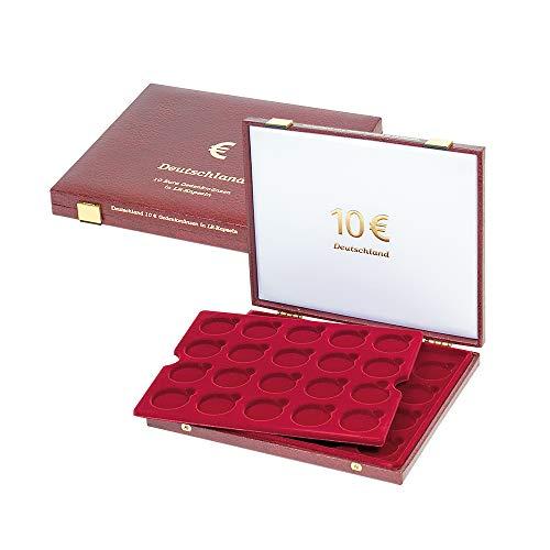 Luxus-Kassette für 10-Euro-Gedenkmünzen in Münzenkapseln, für 40 Stück 10-Euro-Gedenkmünzen Deutschland (Lindner 2452)