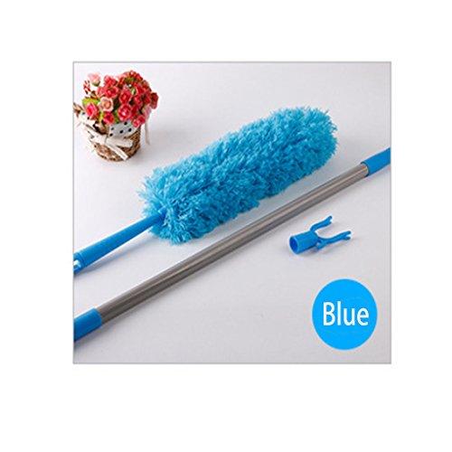 Good Grips Mikrofaser-Staubwischer, ausziehbar mit Verlängerungsstange 177cm, flexibel, biegbar, waschbar, antistatisch, nimmt leicht Staub auf blau