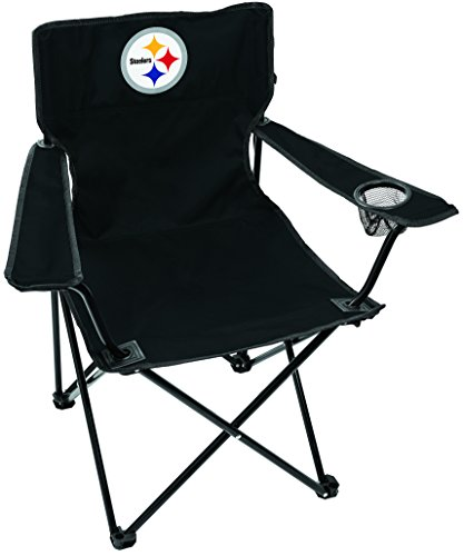 Rawlings NFL Gameday Elite Lightweight Folding Tailgating Chair, with Carrying Case, Pittsburgh Steelers