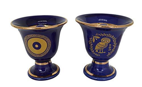 Talos Artifacts Pythágoras Fair Cup Pitágoras - Protector de ojos (2 tazas), diseño de búho de sabiduría