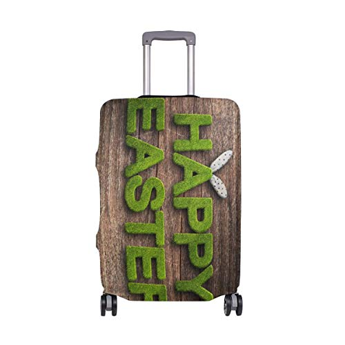 IUBBKI Travel Luggage Cover Easter Holiday Grass Greeting Card Spring Suitcase Protector Fits XL Washable Baggage Covers