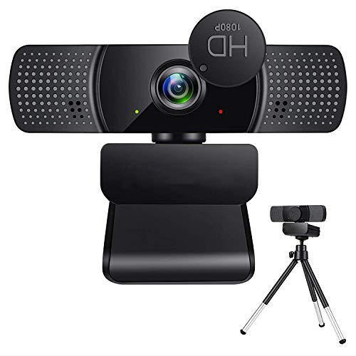 Full HD 1080p Webcam, Live Streaming Camera for Video Calling, Online Classes, HD Light Correction, Works with Skype, Zoom, FaceTime, Hangouts, PC/Laptop/Smart TV