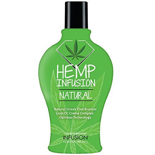 Hemp Infusion Natural Tanning Bed Lotion, Indoor tanning lotion. Best Natural Dark Bronzing tanning lotion. Natural Bronzer, No Tingle, No Staining or Streaking. Natural browning lotion