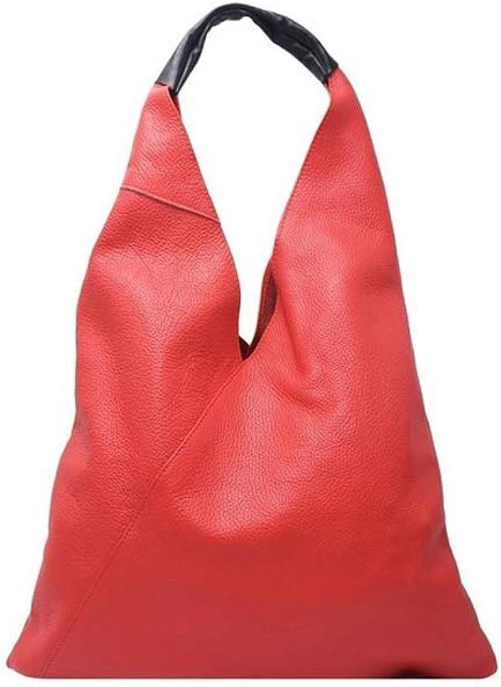 Italian Leather Hobo Handbag