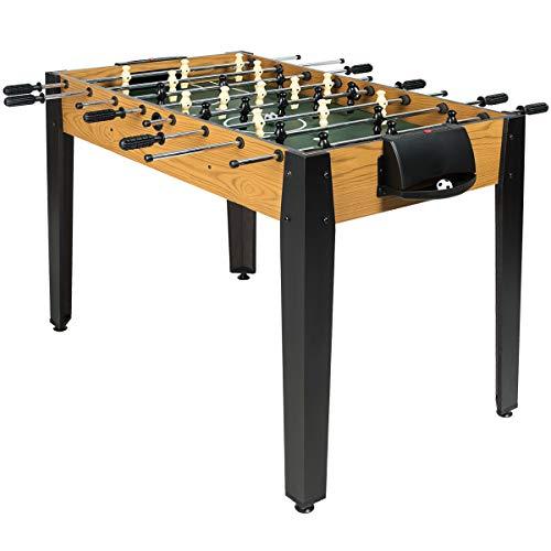 COSTWAY Tischkicker in Wettbewerbsgröße, Kickertisch für Erwachsene und Kinder, Spieltisch inkl. 2 Bällen, Tischfußball für Spielzimmer, Bars und Partys, 122 x 61 x 79cm
