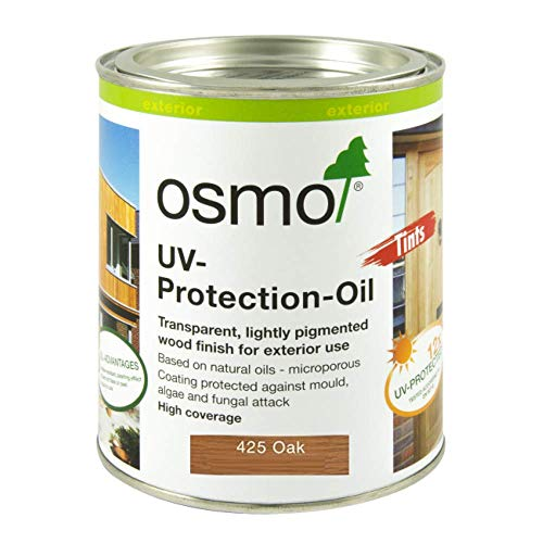 Osmo UV-Protection Oil-Oak with Active Ingredients 425C 0.75 Litre