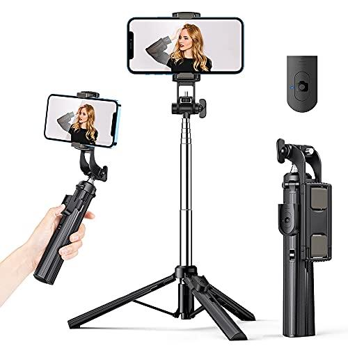 K&F Concept Selfie Stick Stativ mit Bluetooth Fernbedienung, 3 in 1 Kabellos 360°Rotation Selfie Stange, 19-80CM Selfiestick Monopod kompital für...
