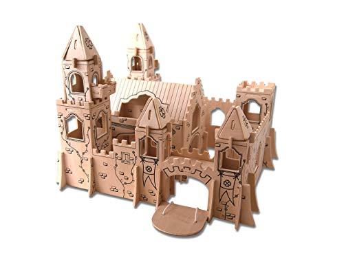 Etna Iława Prinzessinnen Schloss 3D Holzbausatz Prinzessin Burg Schloss Haus Steckpuzzle Bauwerk Holzpuzzle PH026