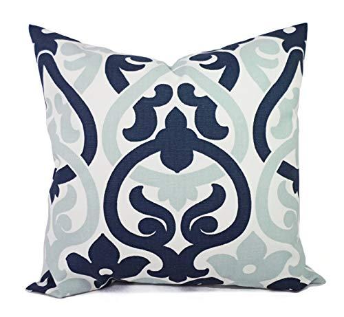 73Elley Decorative Pillows Navy Trellis Pillow Covers Trellis Pillow Cover Alex Pillow Navy Pillows Navy and Blue Pillow