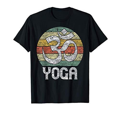Meditación Vintage Om Yoga Symbol Camiseta