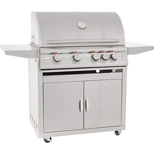 Blaze Freestanding Grill with Lights (BLZ-4LTE2-NG-BLZ-4-CART), 32-inch, Natural Gas