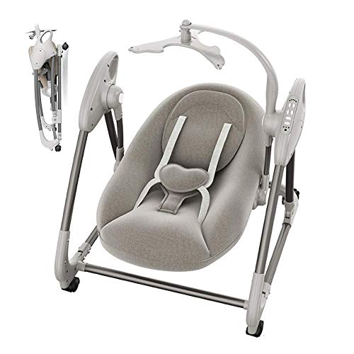XHCP Baby Swing Chair, Multifunctional Music Rocking Chair Embracing Design Protect The Spine Suitable for Babies 0-18 Months
