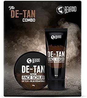 Beardo De-Tan Face Wash and De-Tan Face Scrub Combo Gift Box For Men, 100 g (Pack of 2)