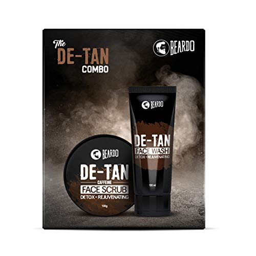 Beardo De-Tan Face Wash and De-Tan Face Scrub Combo Gift Box For Men (Pack of 2) | Gift Set for Men | Made in India
