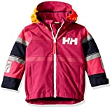 Helly Hansen Kids & Baby Salt Coast Jacket Waterproof Windproof Breathable Coat, 039 Festival Fuchsia, Size 10