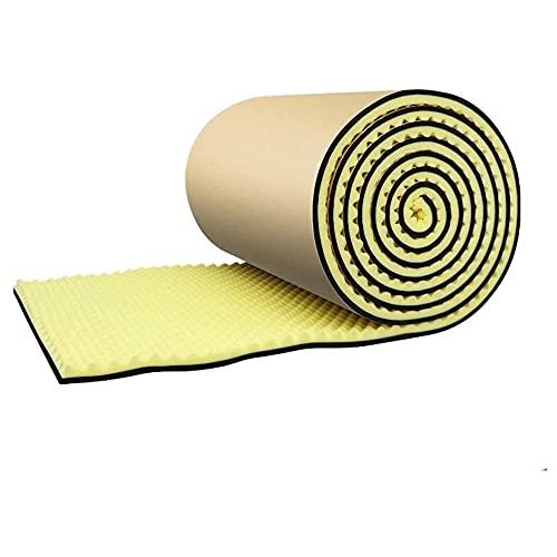 COUYY Algodón de absorción de Sonido, procesamiento de la habitación a Prueba de Sonido para el hogar Algodón de absorción de Sonido de Alta Densidad,Amarillo