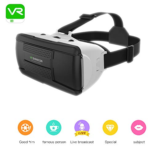 Sale!! QLPP Virtual Reality VR Headset with 40mm Short Focal Length Design Light Weight Glasses with...