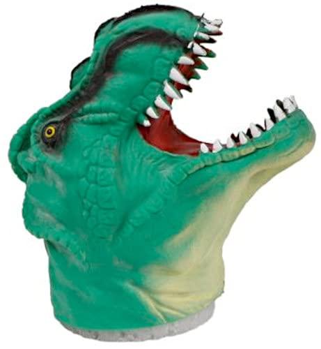DinoWorld Marioneta de dinosaurio junior, 14 x 10 cm, color verde