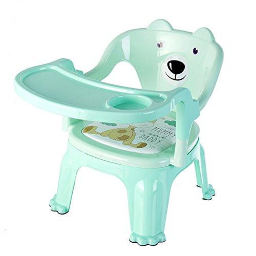 Chaise de Salle à Manger pour Enfants Baby Table Chaise pour Enfants Tabouret en Plastique pour bébé Chaise avec Plaque (Color : Green, Size : 32.5cm*32.5cm*40.5cm)