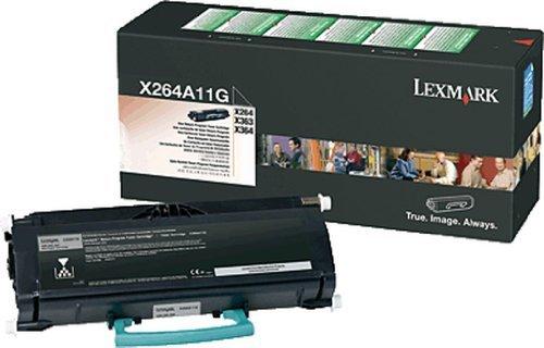 Lexmark X264, X363, X364 Series Return Program Toner Cartridge (3,500 Yield), Part Number X264A11G by Lexmark