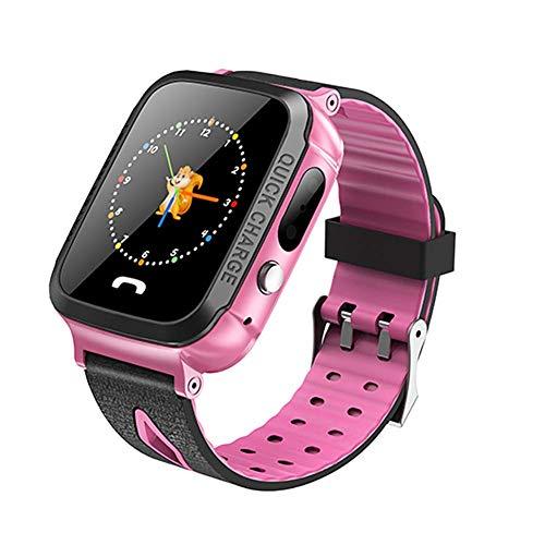 Smart Watch Kinder Phone Watch Kann Bildunterstützung Zwei-Wege-Gespräch, Positionierung, 1,44 Zoll Bildschirm (Pink)