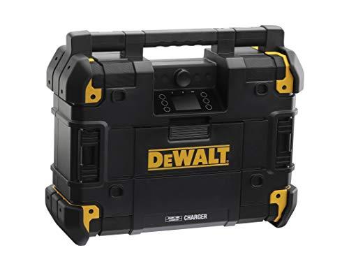 Dewalt Akku-Netz-Radio (passend zum T-Stak-Boxen-System, mit Ladestation, Bluetooth kompatibel, DAB+ und AM/FM-Baustellenradio, IP54, Lieferung ohne Akku) DWST-81078