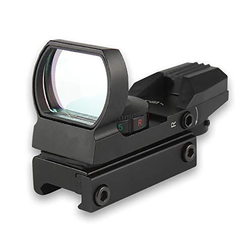 Punto Rosso per Fucile, Mirino Red DOT Caccia Softair con 4 Reticoli 5 Luminosità per Weaver Picatinny da 20mm 22mm Rail CJ/MZJ-03
