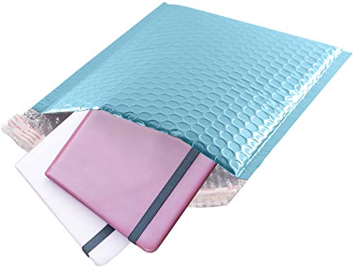 AMZ Bubble mailers 6.5 x 9 Pack of 25 Aqua Ice Padded envelopes 6 1/2 x 9. Metallic Shipping Bags for mailing, Packaging #0 25 Pack Photo #2