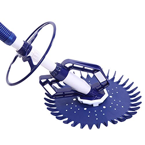 Best Buy! MISIRUISI Automatic Pool Washer 08 High-End Devices with 10PCS Blue Hose Solved The Proble...