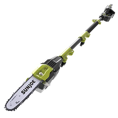 Sun Joe iON100V-10PS-CT 10-Inch 100-Volt Max Lithium-iON Cordless Telescoping Pole Chain Saw, Tool Only