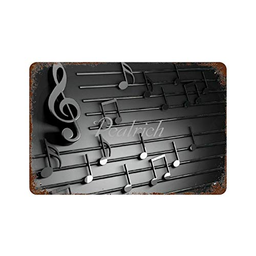 Scott397House Wall Poster Tin Signs 7x10 3D Music Notes Music Musician Art Vintage Metal Plaque Decorative Sign Home Decor for Indoor Outdoor