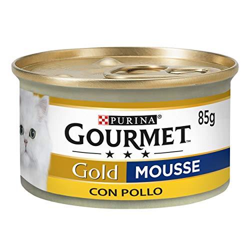 Purina Gourmet Gold Mousse comida para gatos con Pollo, 8 x 85 gr