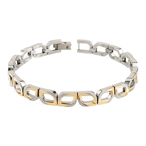 Boccia Damen Armband Silber/Gold Titan 20cm