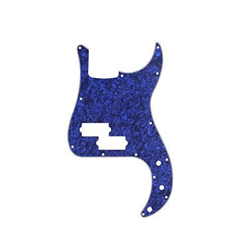 Musiclily 13 Furos Escudo Baixo Pickguard para Fender EUA / Mexicana Standard Precision Bass 4 Cordas, 4 Camadas Azul Perolado