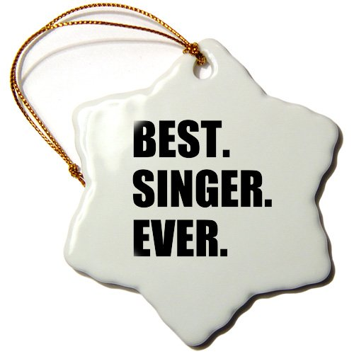 3dRose Best Singer Ever, fun gift for singing appreciation, black text -...