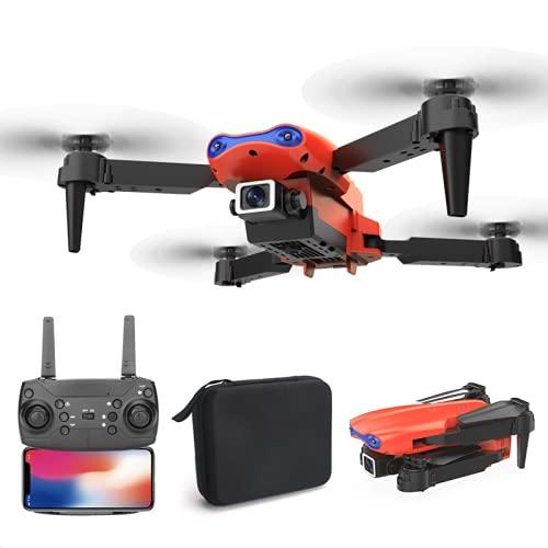 BIANLIANG Grabación de aire de alta resolución 4K del dron. Avión teledirigido plegable de 4 ejes con dos cámaras. Transmisión en tiempo real WiFi (cámara 4K gris individual).