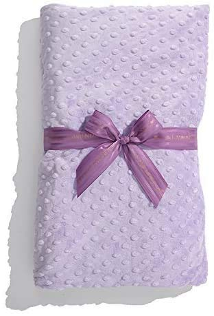 Sonoma Lavender Luxury Aromatherapy Spa Blanket, Shawl Size Microwaveable Heated Blanket for Relaxing and Revitalizing, 44' x 18', Lilac Dot