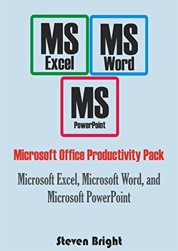 Microsoft Office Productivity Pack: Microsoft Excel, Microsoft Word, and Microsoft PowerPoint (English Edition) eBook: Bright, Steven: Amazon.es: Tienda Kindle