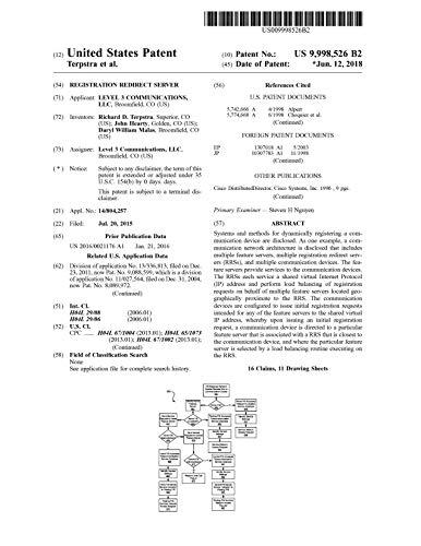 Registration Redirect Server : United States Patent 9998526 (English Edition)