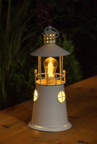 Noma Laterne mit LED-Filament-Glühbirne, batteriebetrieben, 25 cm