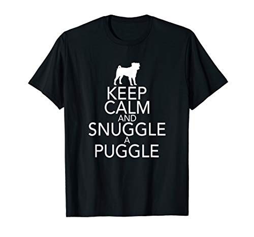 Keep Calm And Snuggle A Puggle Dog Lover Pug T-Shirt T-Shirt