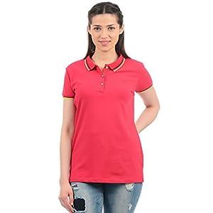 Monte Carlo Women's Plain Regular Fit T-Shirt 13 41I 0hb2T5L. SS300