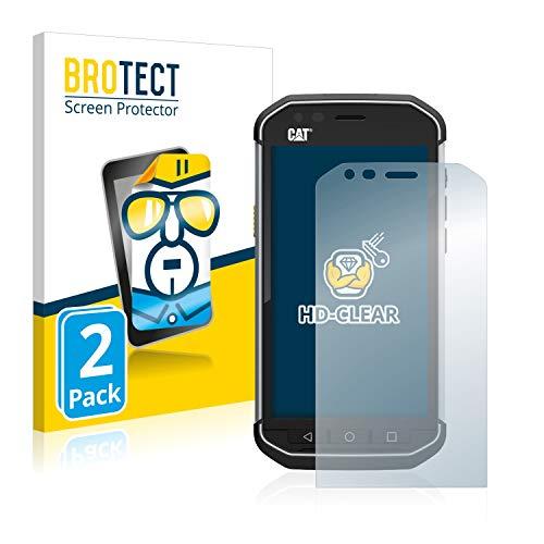 BROTECT Schutzfolie kompatibel mit Caterpillar Cat S40 (2 Stück) klare Bildschirmschutz-Folie