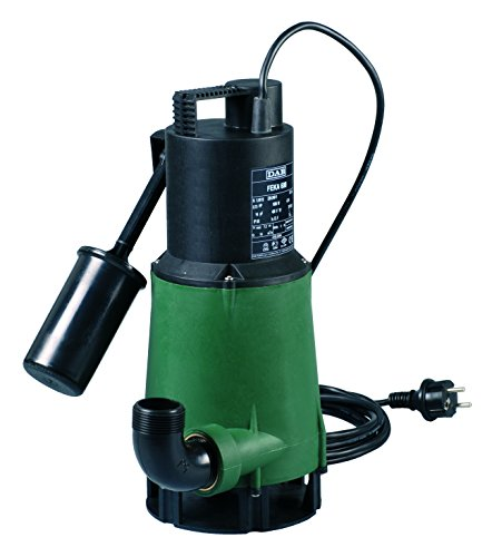DAB FEKA 600 M-A SV 103002774 - Pompa sommergibile con galleggiante, per drenaggio acque reflue, 0,55 kW / 0,75 HP, monofase con albero pompa, in acciaio inox